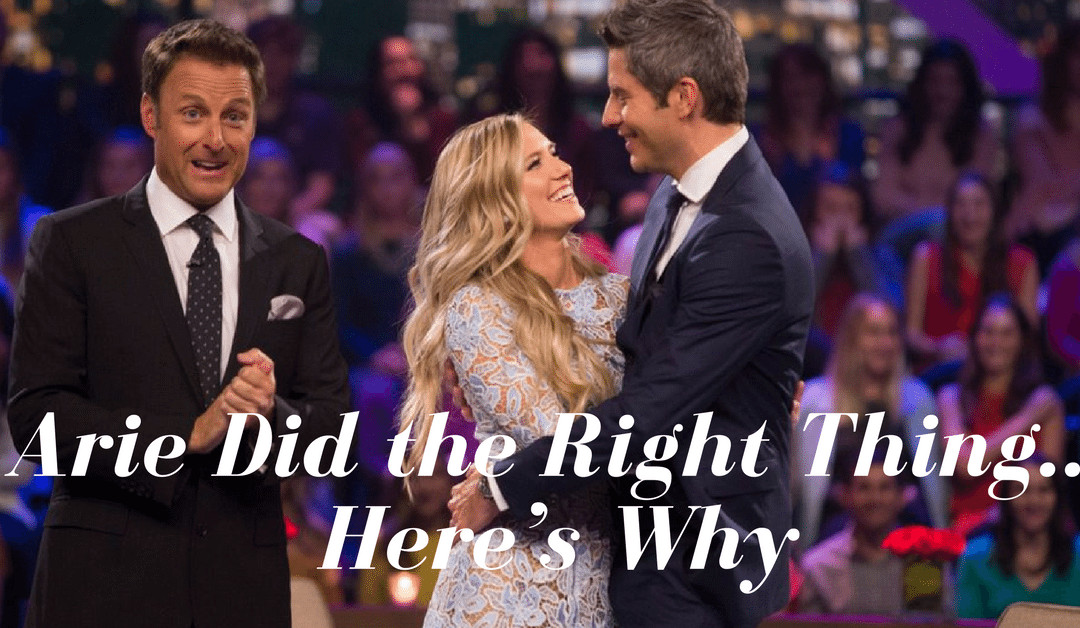 Arie Did the Right Thing… Here's Why