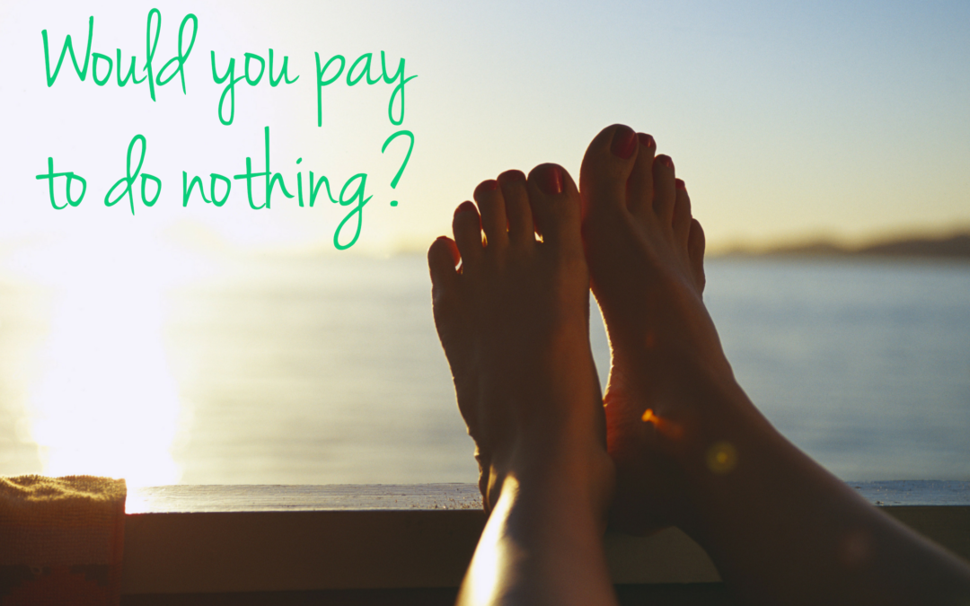 Would you pay to do nothing?